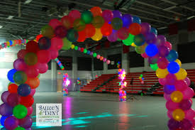 Lighted Balloons Neon Balloon Arches Creekside High Homecoming