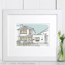house drawing personalised house portrait by letterfest notonthehighstreet com