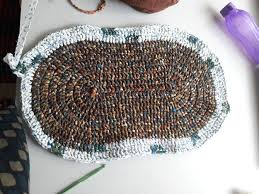 Crochet Doormat How To Make A Crocheted Rag Rug 11 Steps With Pictures