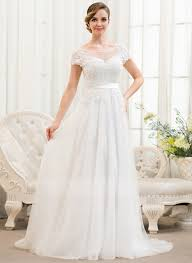 pictures of wedding dress a line princess scoop neck sweep tulle lace wedding dress