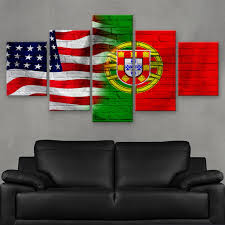 What Are The Colors Of The Portuguese Flag Hd Printed Limited Edition American Portuguese Portugal Flag