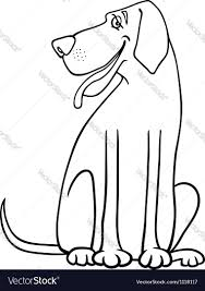 great dane dog cartoon for coloring royalty free vector