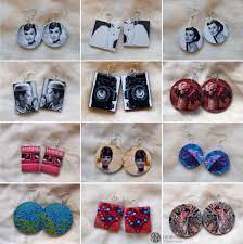 decoupage earrings felt ribbon decoupage earrings again