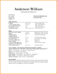 Sample Acting Resume No Experience by Special Skills Resume Examples List Personal Talents Acting Resume