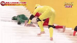 funny japanese game show slippery stairs just hilarious find