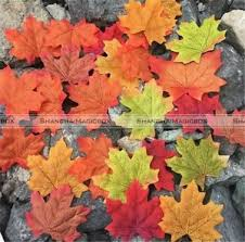 Fall Party Table Decorations - 100 pcs fall leaves wedding favor autumn maple leaf party table
