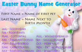 my easter bunny what s your easter bunny name