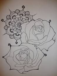 rose henna tattoo by xxxparabolaxxx on deviantart