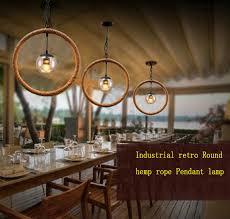Iron Pendant Light Aliexpress Com Buy Vintage Circle Hemp Iron Pendant Lights