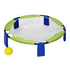blue and green coop battle bounce outdoor backyard game set