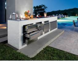 patio furniture design outdoor kitchen and lounge space with black full size of patio furniture sleek outdoor kitchen with simply modern design ideas with pool view