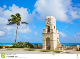 palm beach worth avenue clock tower florida stock photo image