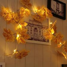 battery operated led string lights waterproof 2 2m fairy string lights waterproof 20 led maple leaves lights