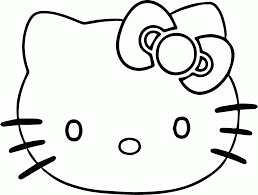 kitty face coloring pages kids coloring