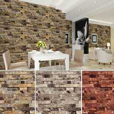 haokhome pvc vinyl modern faux brick stone 3d wallpaper living haokhome pvc vinyl modern faux brick stone 3d wallpaper living room bedroom bathroom home wall decoration 0 53m 10m roll in wallpapers from home improvement