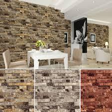 haokhome pvc vinyl modern faux brick stone 3d wallpaper living