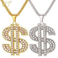 hip necklace chain images Buy coin hip hop chains us dollar money necklace pendant unisex jpg