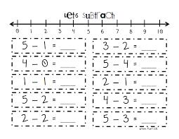 number line subtraction pdf karissa pinterest number lines