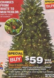 black friday deals on christmas lights black friday deal martha stewart living 7 5 ft pre lit led royal