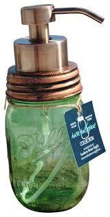 mason jar foaming soap dispenser traditional bathroom