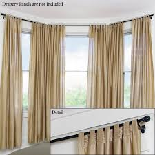 Decorate Bedroom Bay Window Curtains Bedroom Curtain Rods Decorating Astounding Curtain Rods