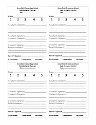 student daily report template the 25 best behavior report ideas on parent contact