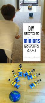 Diy Bowling Favors by Diy Recycled Minions Bowling And Minions Ideas