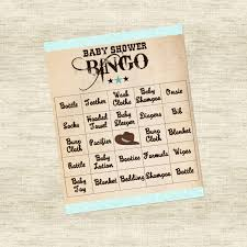 baby shower cowboy baby shower game bingo cowboy theme
