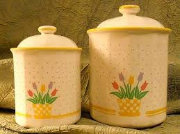 100 yellow canister sets kitchen honey can do 3 piece