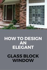 Home Windows Glass Design Can A Garage Window Be Architectural And Elegant Glass Block