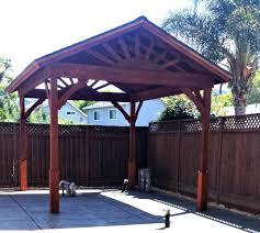 Patio Gazebo Ideas by In 3 Days 3 People Used 3 Ladders To Build This Gazebo With A