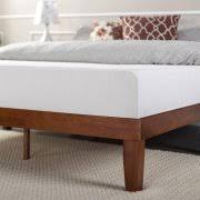 Solid Wood Platform Bed Zinus Solid Wood Platform Bed Cherry Walmart Com