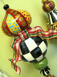 hand painted christmas ornaments whimsical diy large paper mache