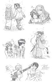 anime couple sketches 2 by kountingsheep on deviantart