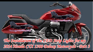 how to install led strip lights on a motorcycle the installation of the led strip lights for my 2014 honda ctx