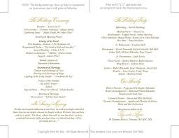 wedding mass program template 29 best wedding order of service images on