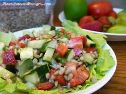 summer salad with fruit and veggies dizzy busy and hungry