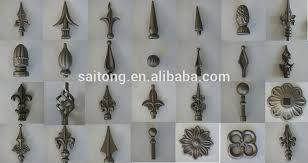 wrought iron gate hardware ornamental fence steel spear
