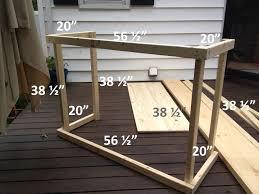 Diy Outdoor Bar Table Diy Outdoor Bar With Built In Cooler