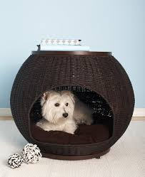 Igloo Dog House Small Amazon Com The Refined Canine U0027s Igloo Deluxe Pet Bed Wicker