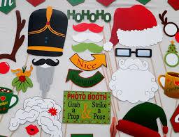 pdf christmas photo booth props printable photobooth diy