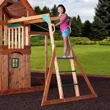 amazon com backyard discovery saratoga all cedar wood playset