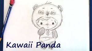 how to draw a manga panda bear step by step for beginners youtube