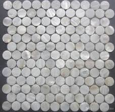 2017 white mother of pearl tiles circular shell mosaic tiles