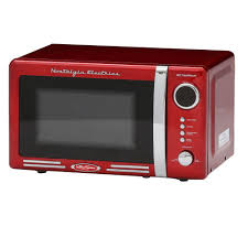 nostalgia retro series 0 7 cu ft countertop microwave oven in