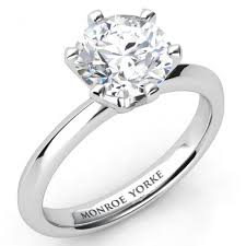 solitare ring calais one carat special certified diamond solitaire ring