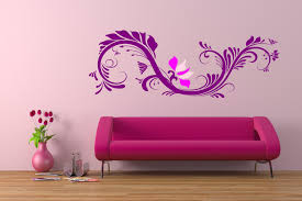 walls decoration modern and stylish pink wall decoration in living room display
