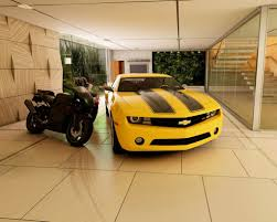 Car Garage Ideas by Unique Textures Wall On Small Garage Design Ideas Combined With
