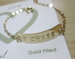 Gold Baby Name Bracelets Hebrew Baby Bracelet Etsy