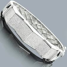 bangle bracelet mens images Mens diamond bangle bracelet 1 73ct sterling silver jpg